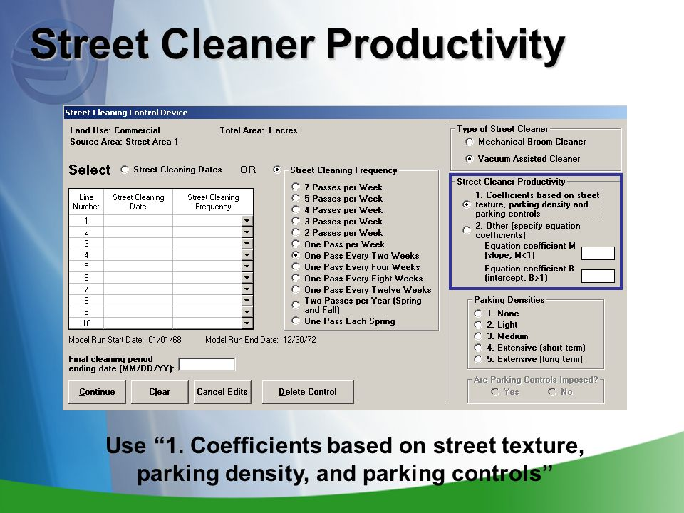 Street Cleaner Productivity Use 1.