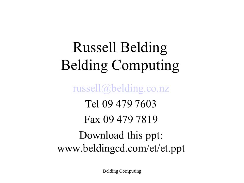 Service user note selection Belding Computing