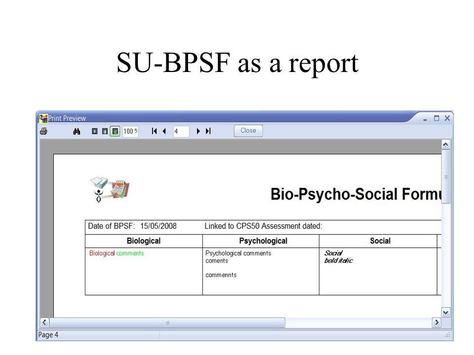 SU-BPSF as a report Belding Computing
