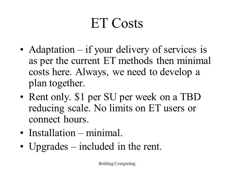 Belding Computing ET Model Staff meet with Service users.