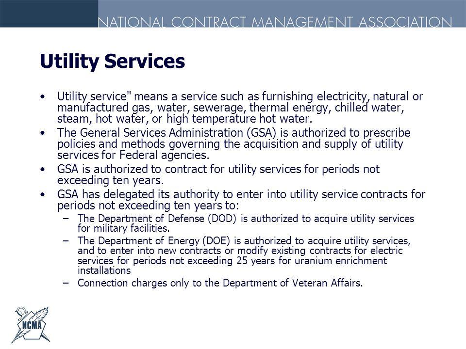 Utility Services Utility service