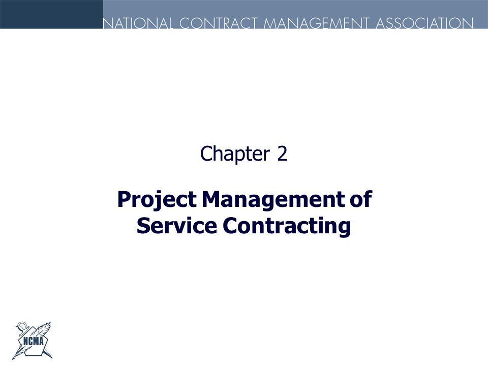 Chapter 2 Project Management of Service Contracting