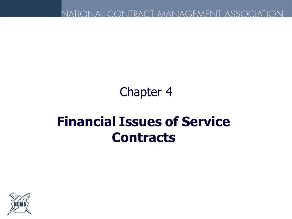 Chapter 4 Financial Issues of Service Contracts