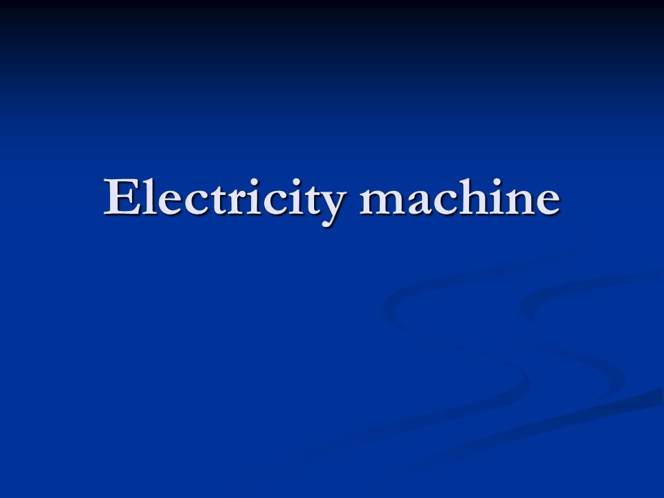 Electricity machine