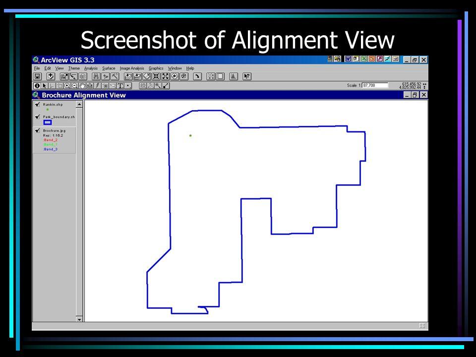 Screenshot of Alignment View