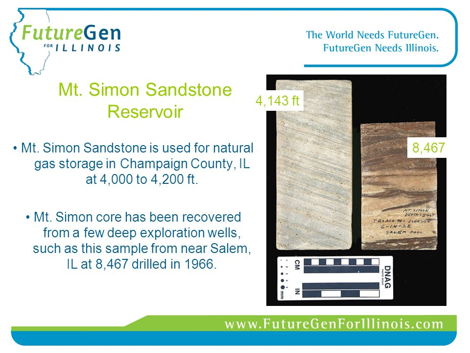 Mt. Simon Sandstone Reservoir Mt.