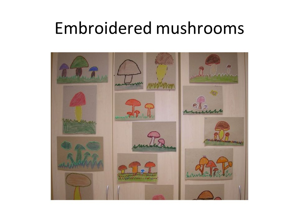 Embroidered mushrooms