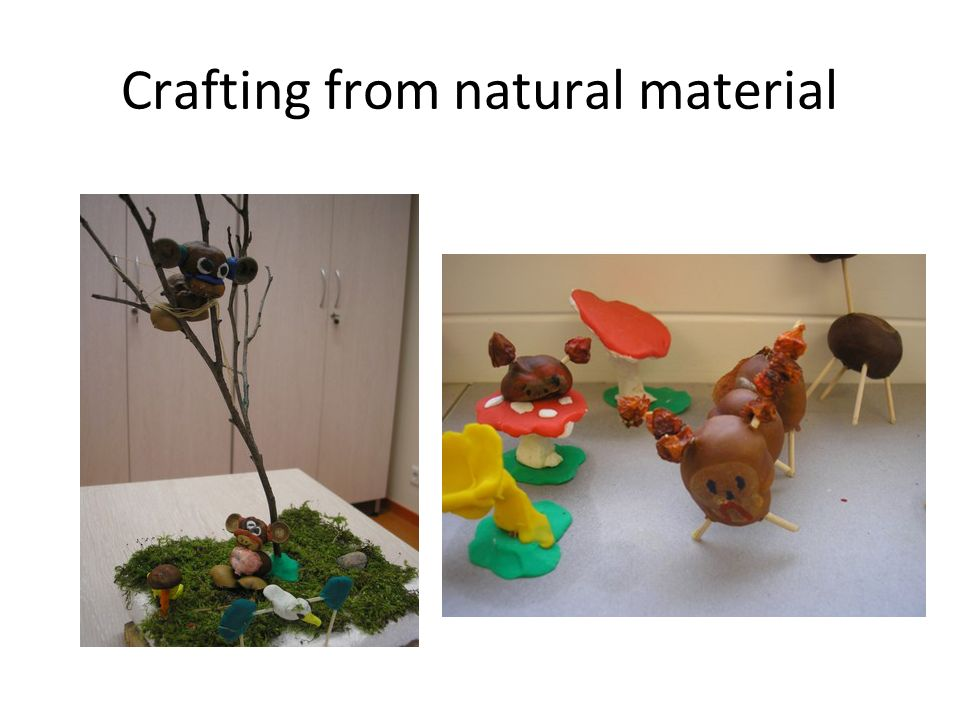 Crafting from natural material
