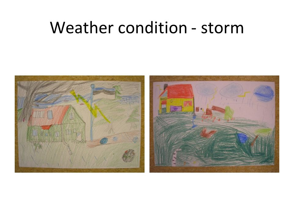 Weather condition - storm