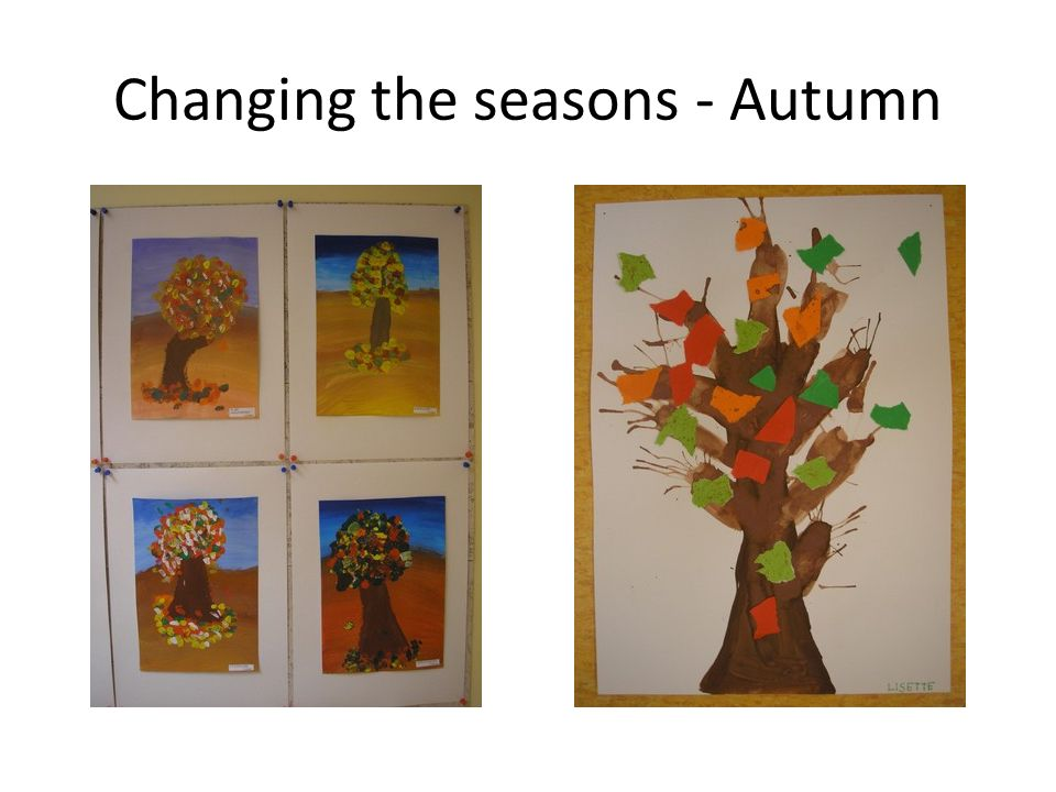 Changing the seasons - Autumn