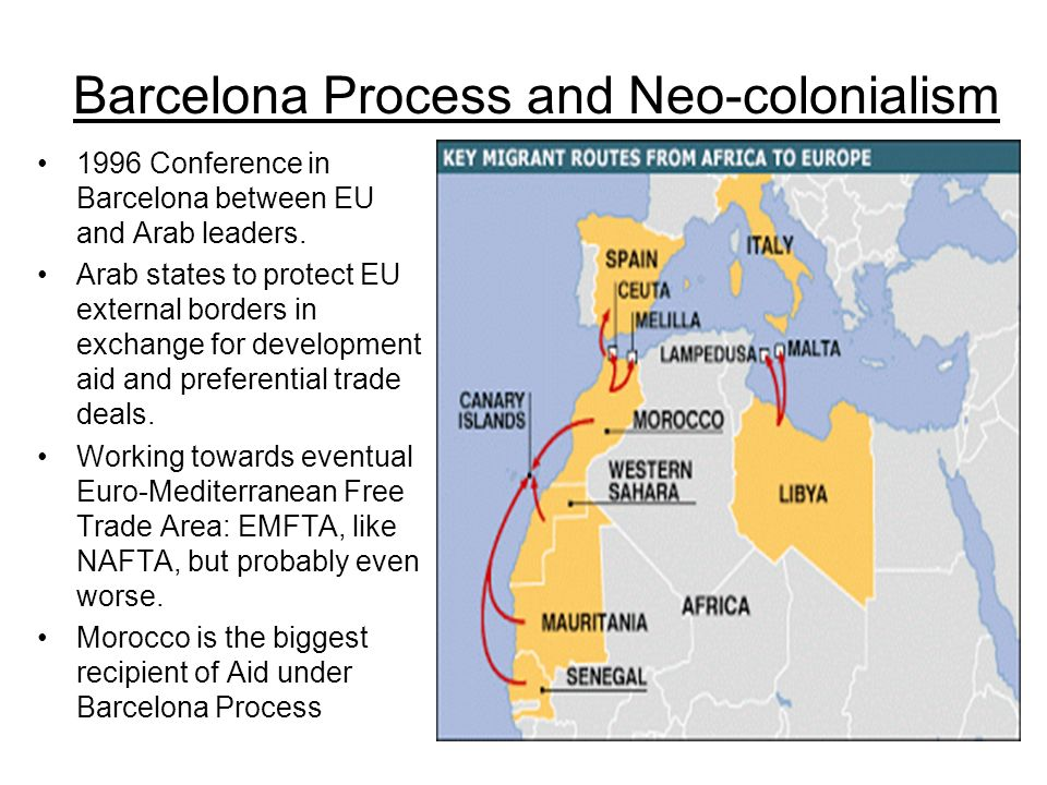 Morocco: Israel of West Africa EU supports Moroccos illegal occupation of Western Sahara in exchange for help protecting borders, among other geopolitical reasons EU is the biggest importer of fish from occupied territories.