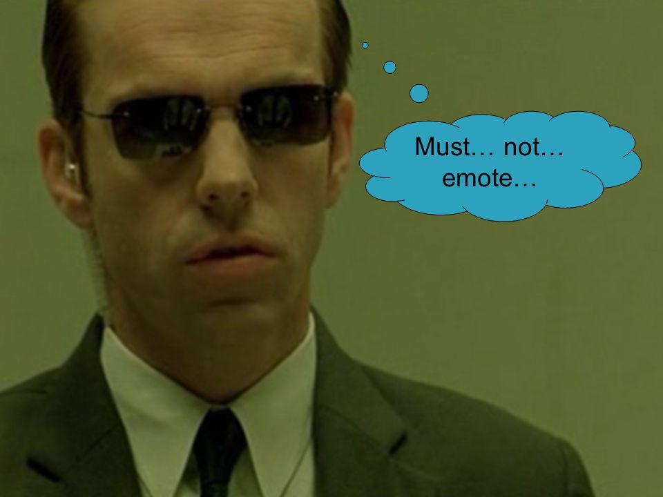 Eliezer Yudkowsky lesswrong.com Yeshiva University March 2011 Must… not… emote…