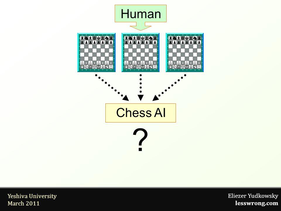Eliezer Yudkowsky lesswrong.com Yeshiva University March 2011 Human Chess AI ?