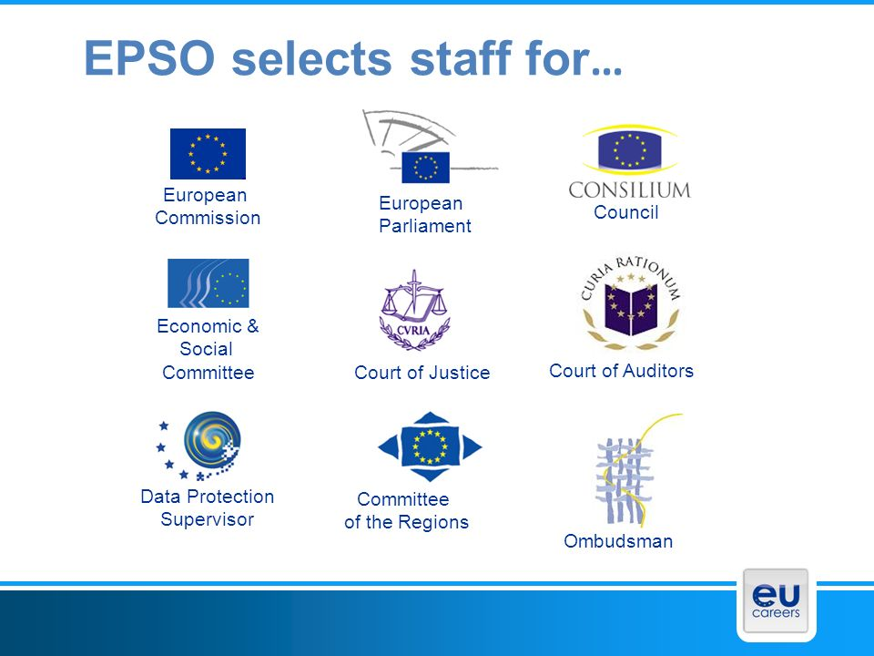 What do the EU Institutions offer.A lifetime of different jobs.