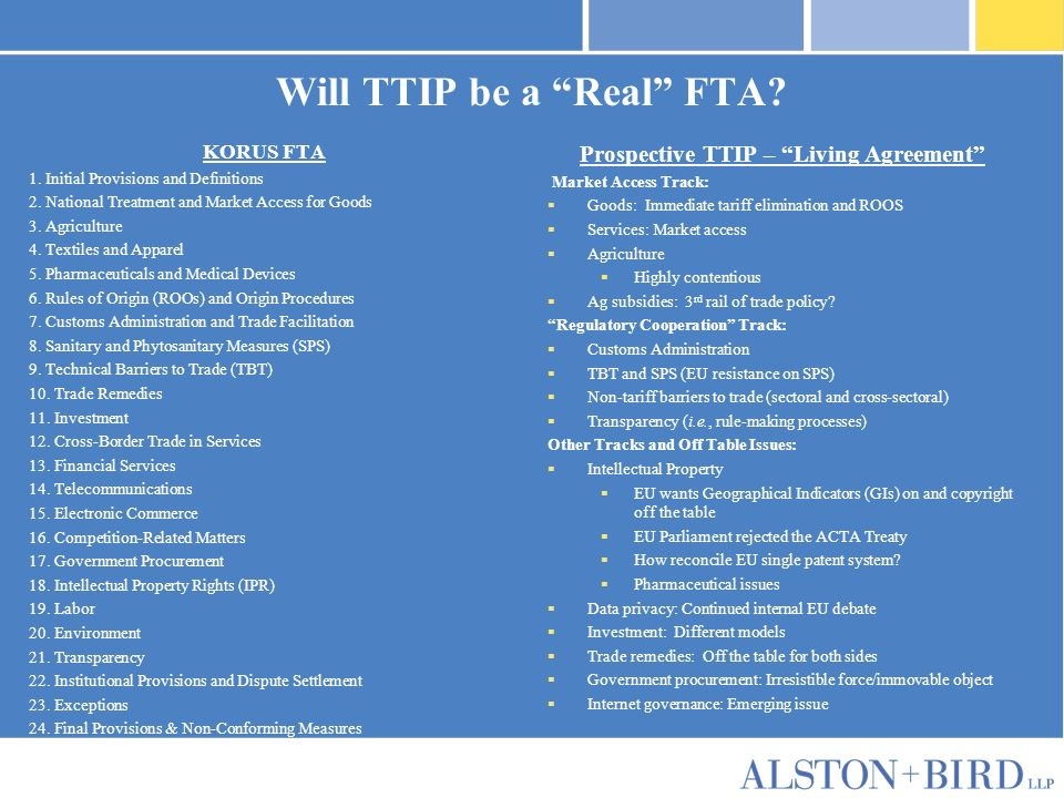 Privileged Attorney-Client Communication Will TTIP be a Real FTA.