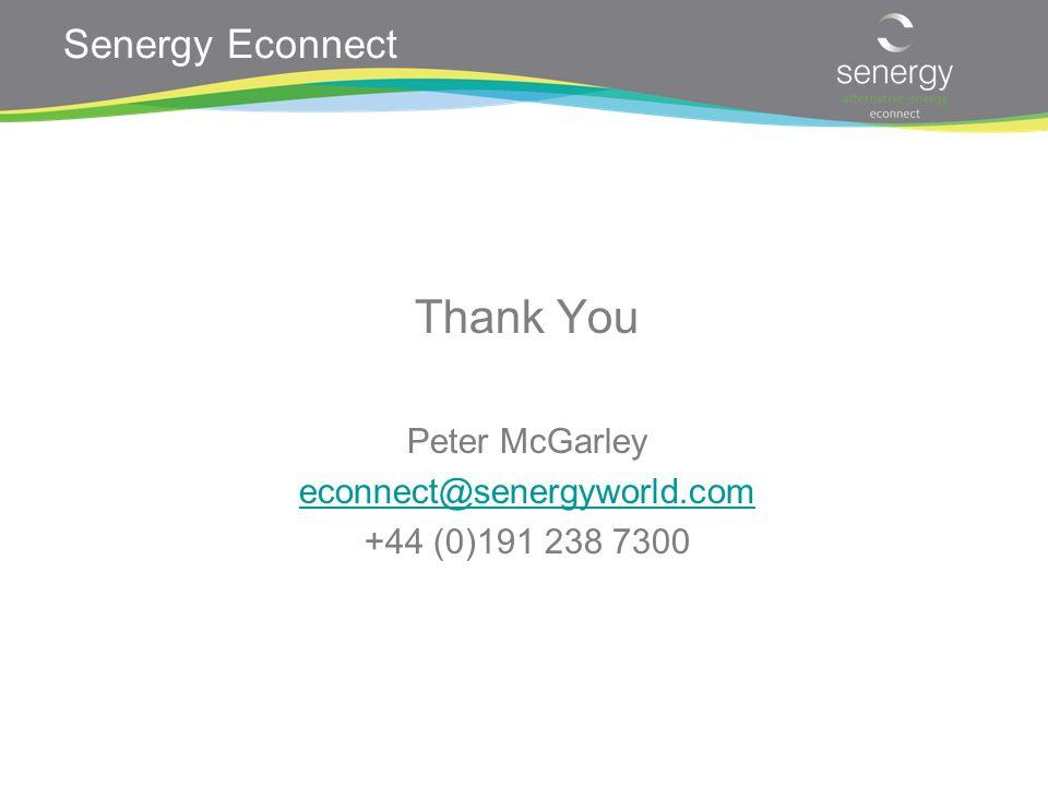 Senergy Econnect Thank You Peter McGarley econnect@senergyworld.com +44 (0)191 238 7300