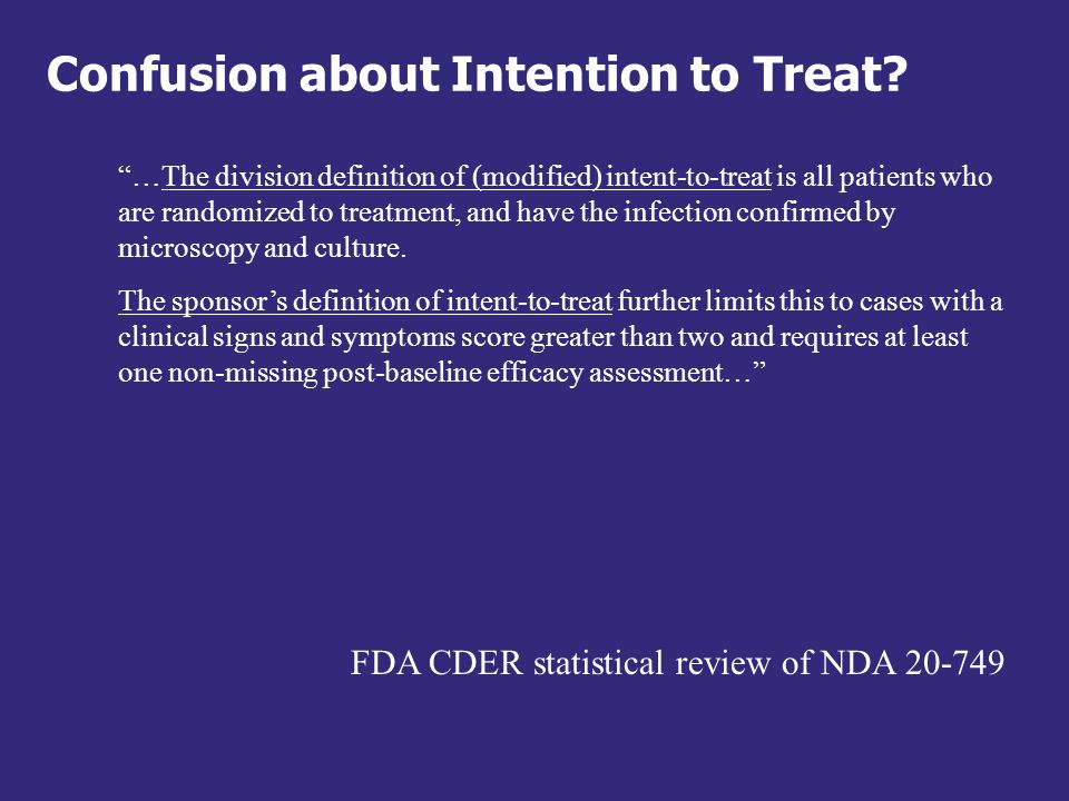 What is the Intention-to-Treat analysis.