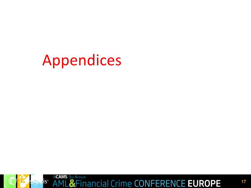 17 Appendices