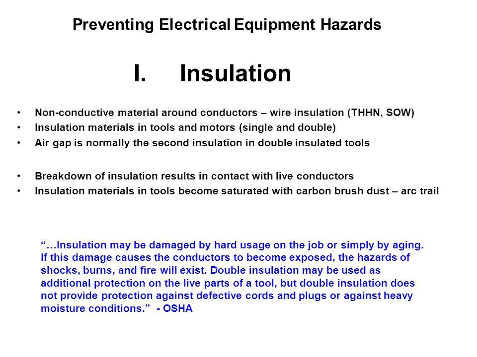 Preventing Electrical Equipment Hazards II.