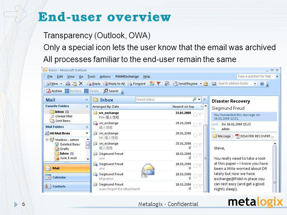 Metalogix - Confidential7 Reducing message size