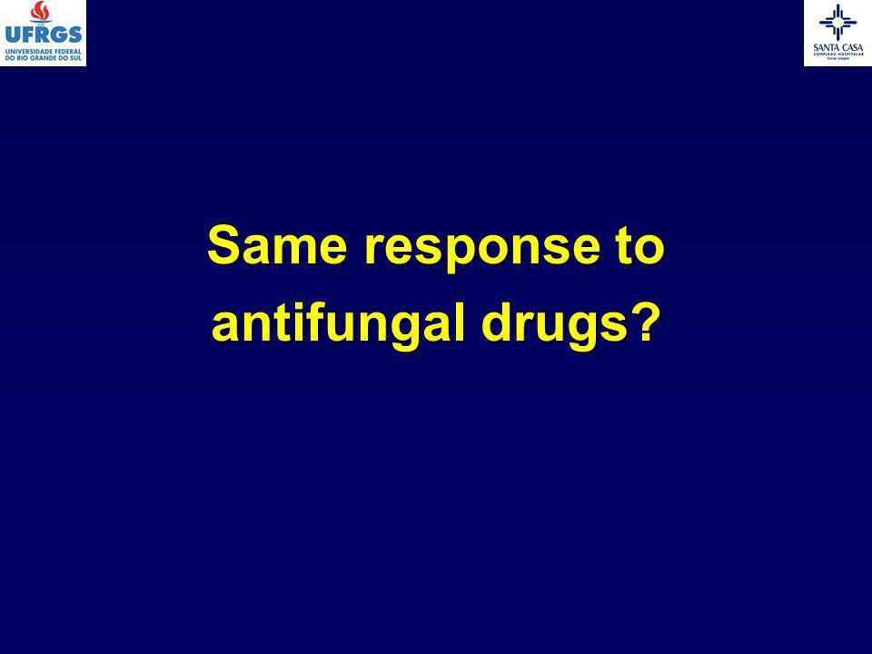 Same response to antifungal drugs?