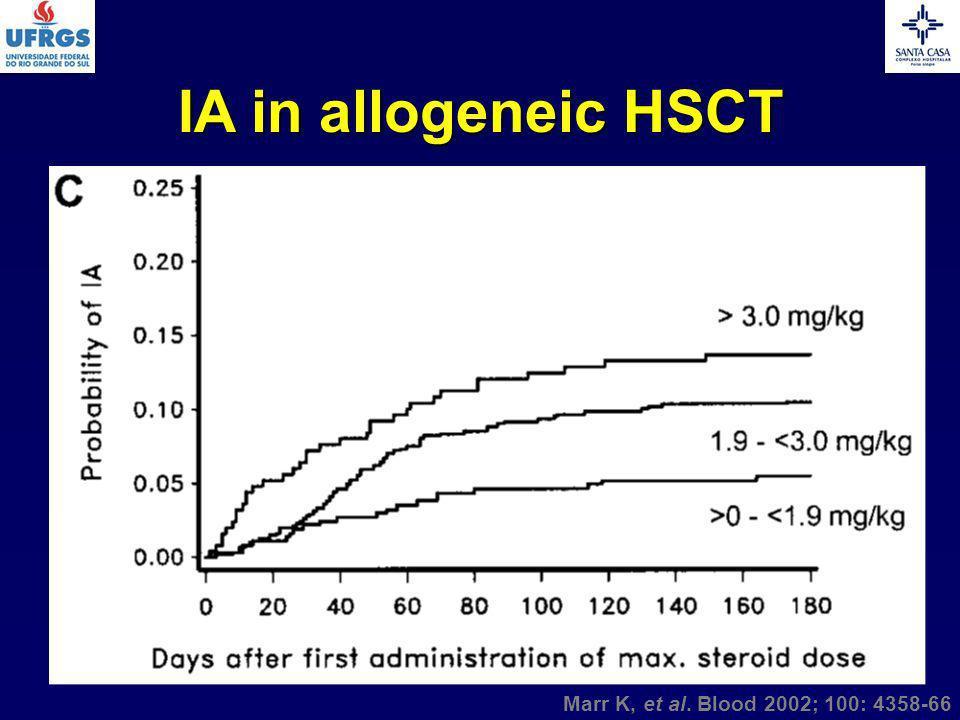 IA in allogeneic HSCT Marr K, et al. Blood 2002; 100: 4358-66