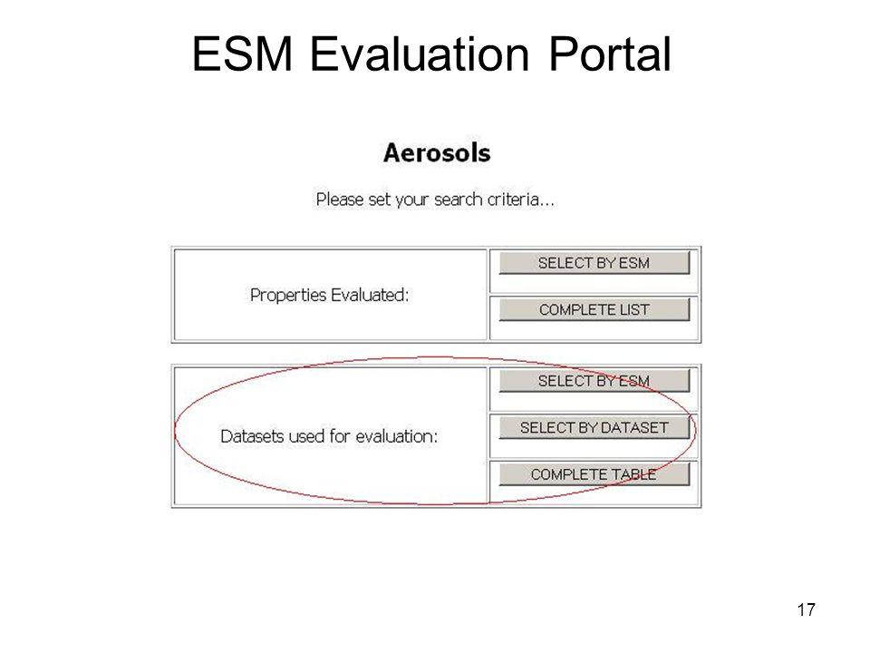 17 ESM Evaluation Portal