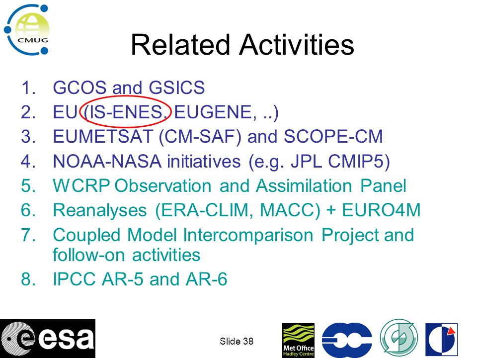 Slide 39 Proposed CMIP5 model runs AR-5 CCI datasets could start to be used in the evaluation of these results