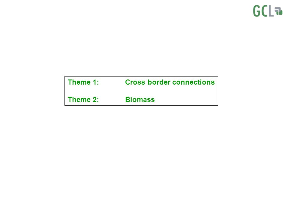 Theme 1:Cross border connections Theme 2:Biomass