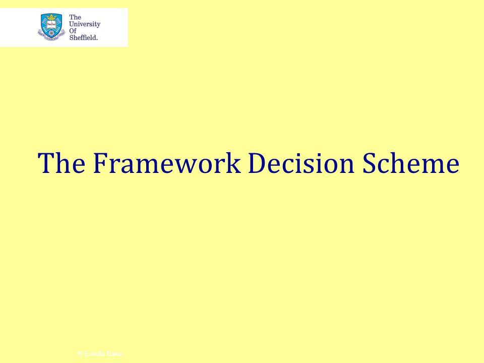 The Framework Decision Scheme © Estella Baker