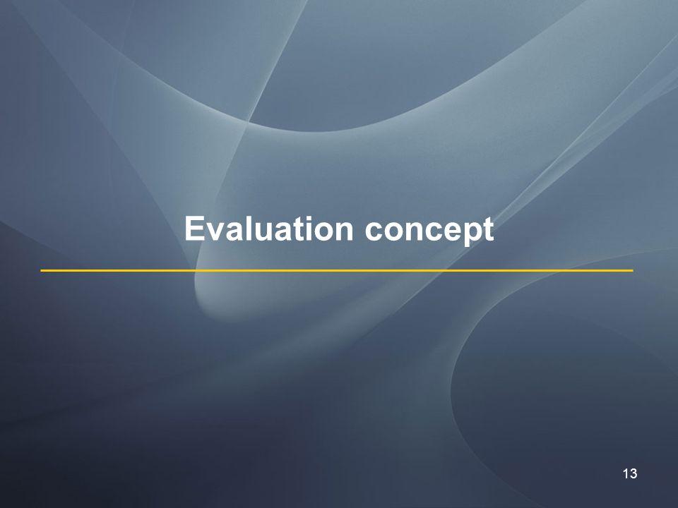 13 Evaluation concept
