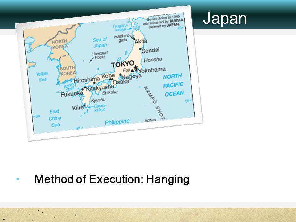 Method of Execution: Hanging Japan