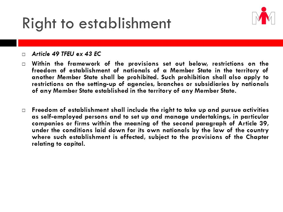 Free movement of capital Article 59 TFEU ex 52 EC 1.