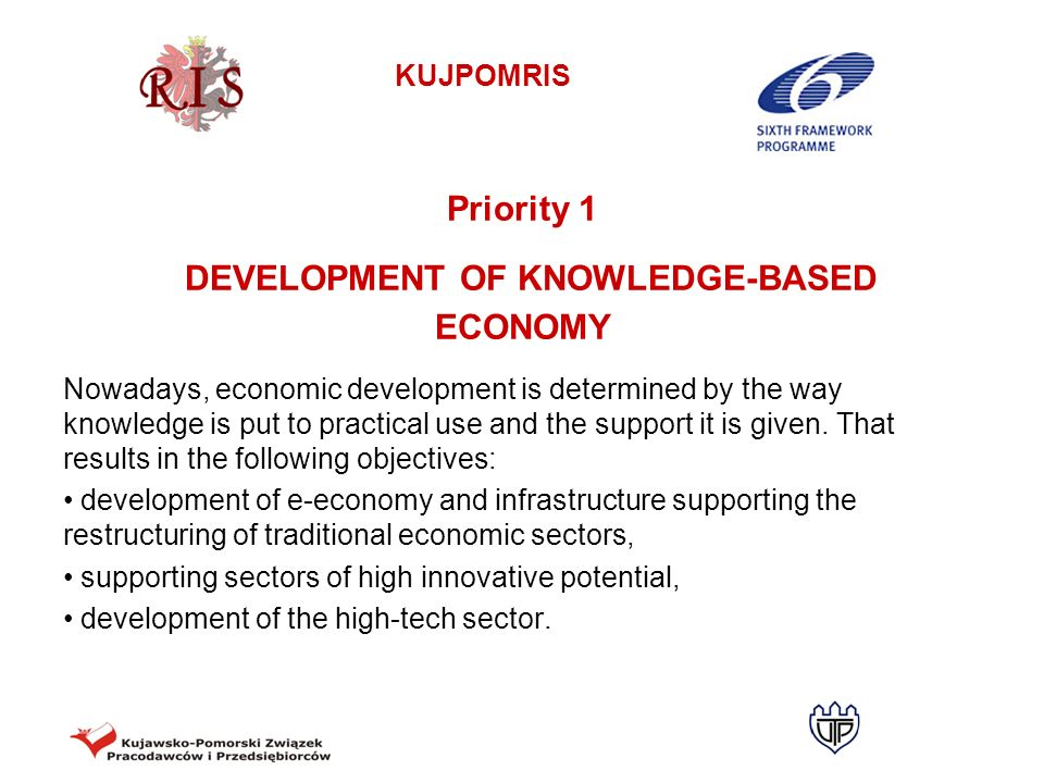 KUJPOMRIS MONITORING INDICATORS FOR PRIORITY 2 Strategic objective 2.1.: Stregthening the research- development sector Number of technological offers made in the region Number of new / significantly improved products resulting from the cooperation of enterprises and R+D sector Number of academic entrepreneurship incubators Number of companies in academic entrepreneurship incubators Number of research laboratories offering services for entrepreneurs