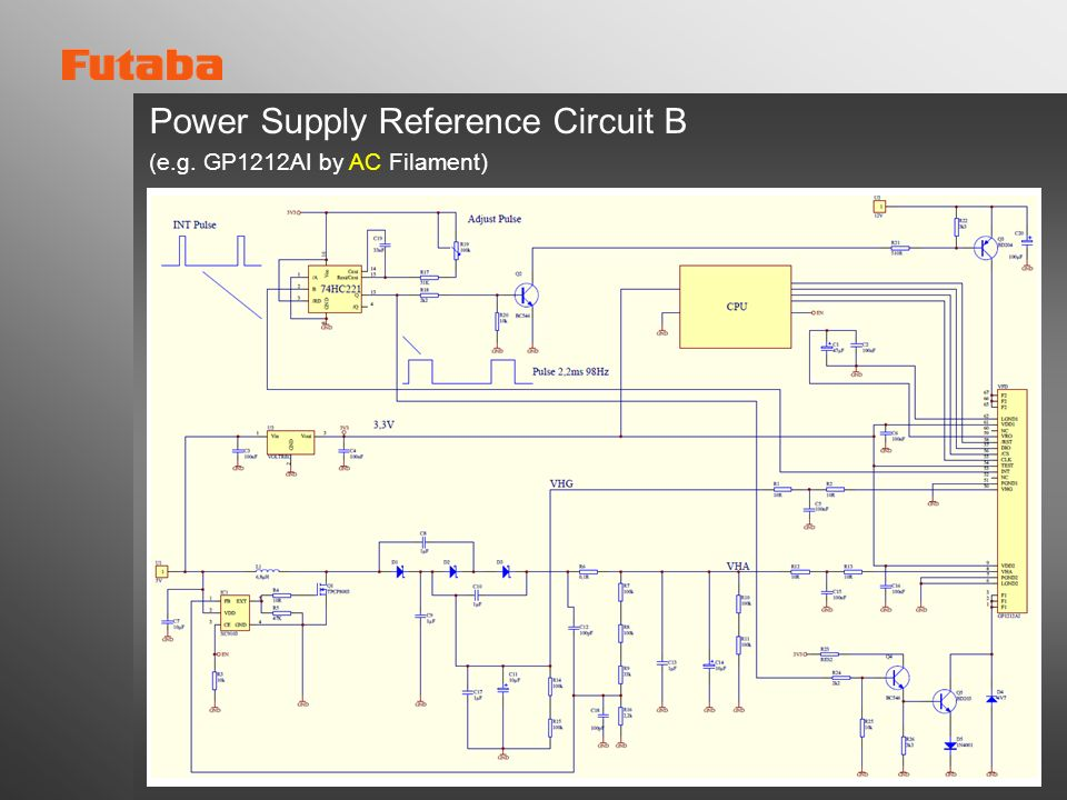 Power Supply Reference Circuit B (e.g. GP1212AI by AC Filament)