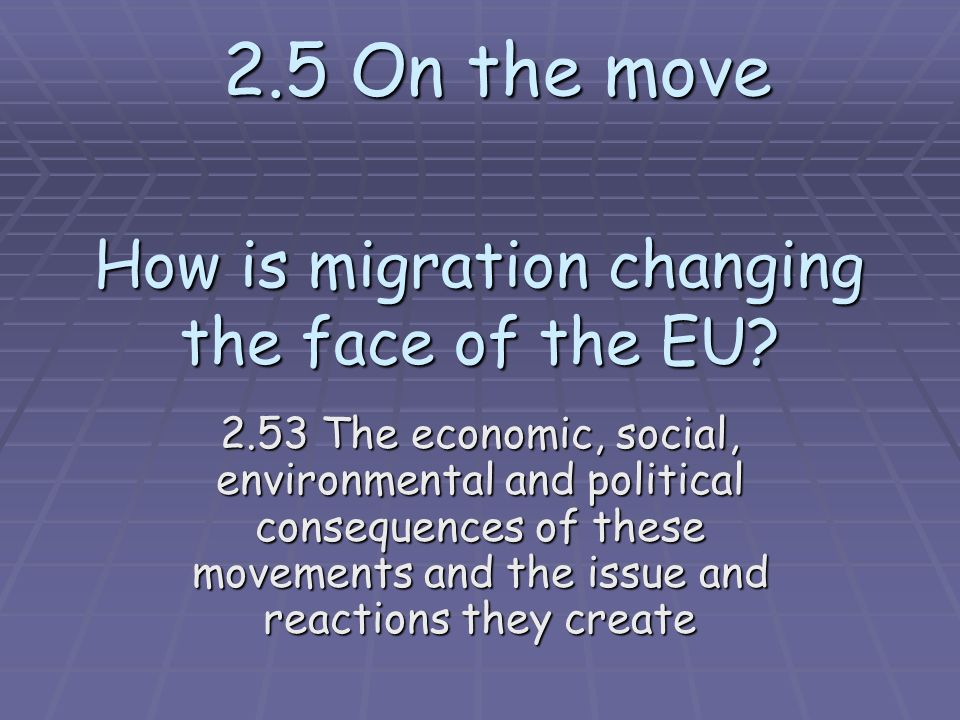 How is migration changing the face of the EU.