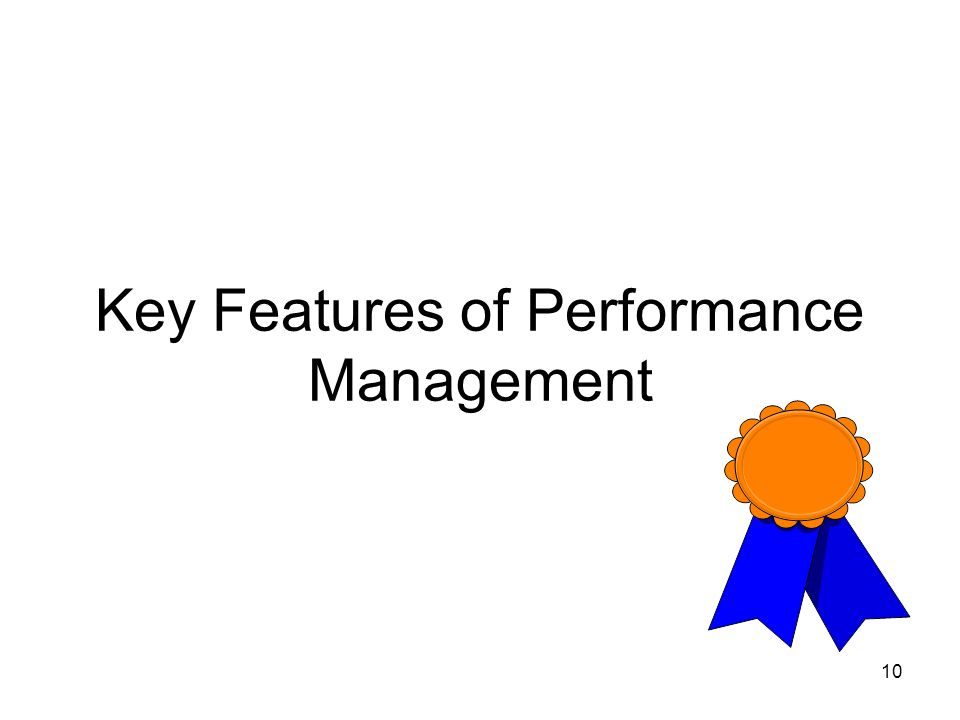 10 Key Features of Performance Management