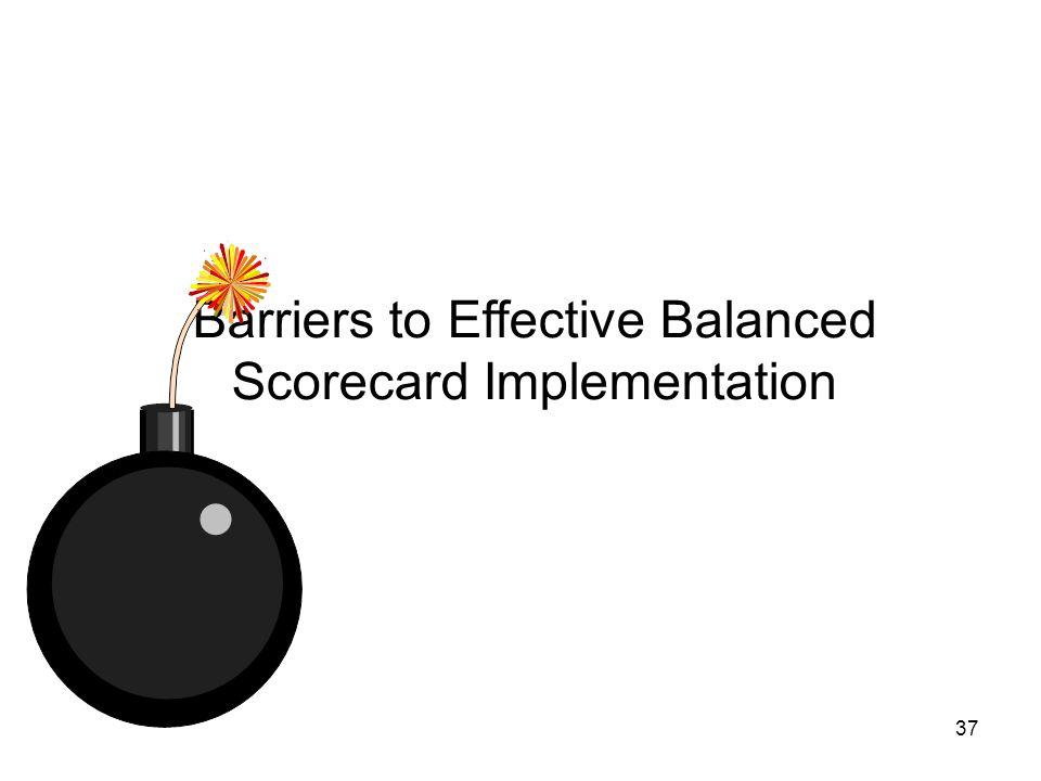 37 Barriers to Effective Balanced Scorecard Implementation