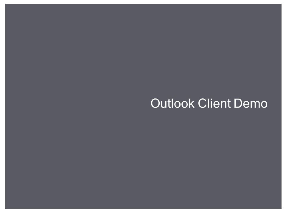 Outlook Client Demo