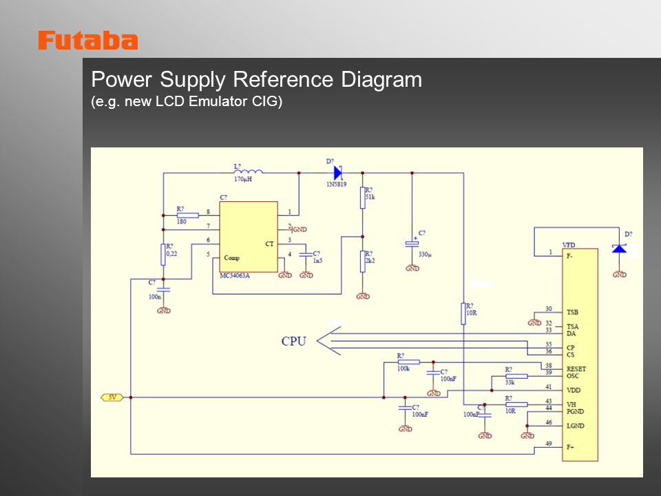 Power Supply Reference Diagram (e.g. new LCD Emulator CIG)