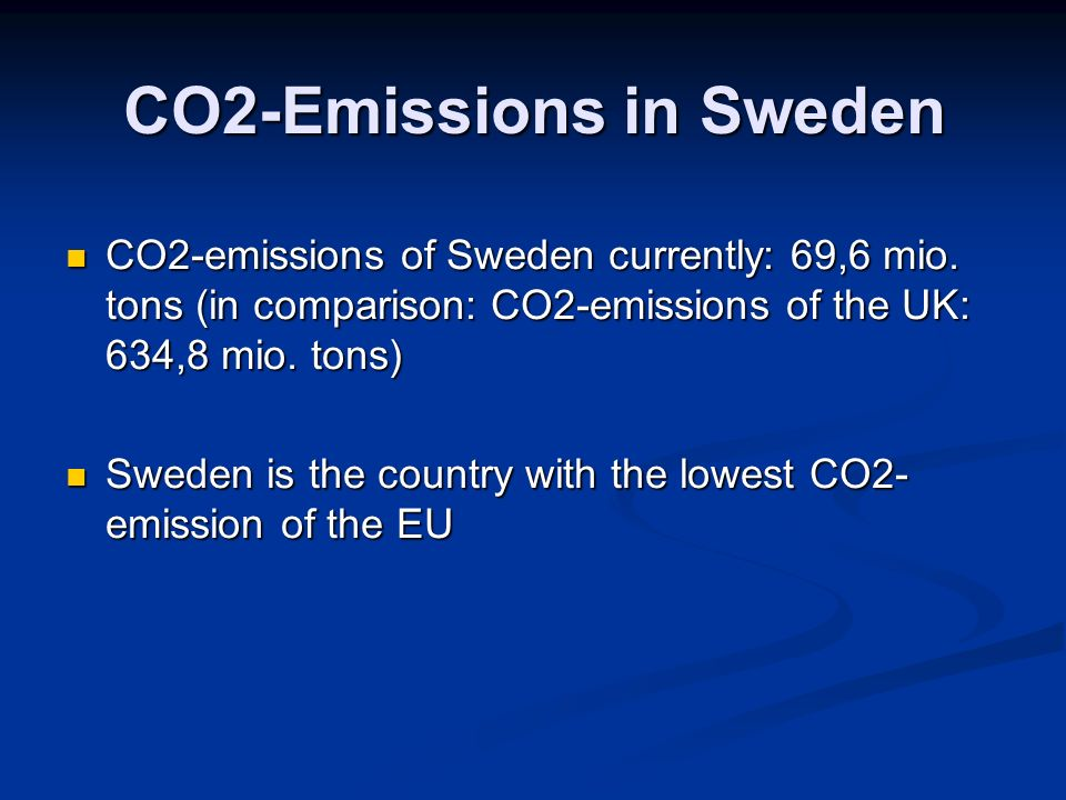 CO2-Emissions in Sweden CO2-emissions of Sweden currently: 69,6 mio.
