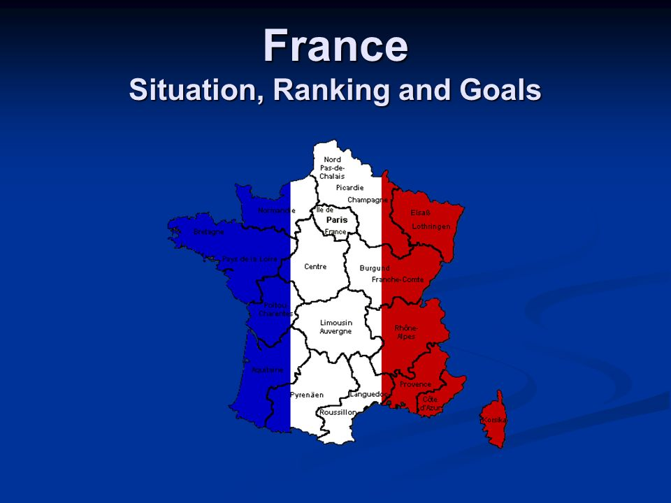 France Situation, Ranking and Goals