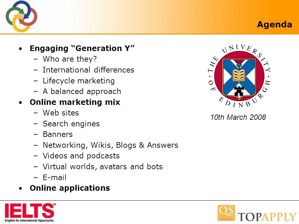 Agenda Engaging Generation Y –Who are they.
