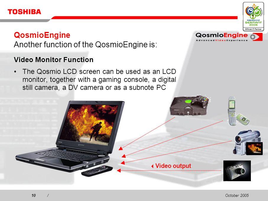 October 20059/9/ 1. QosmioEngine 1-1. Digital Sharpness 1-2.