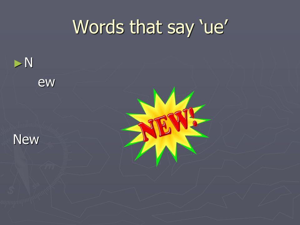 Linguistic Phonics Words that say ue