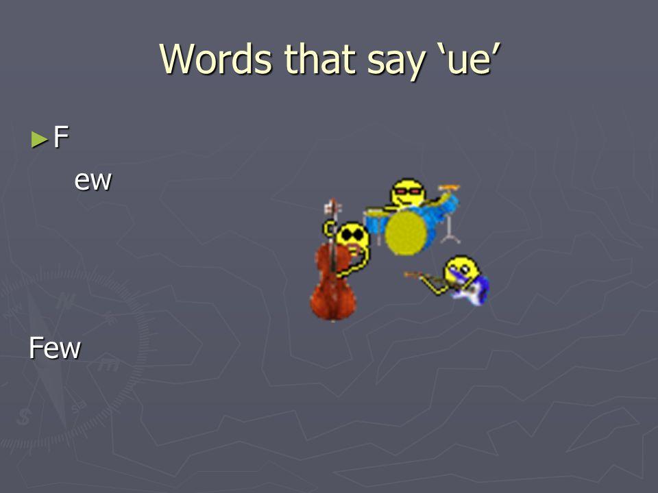 Words that say ue M en en uMenu