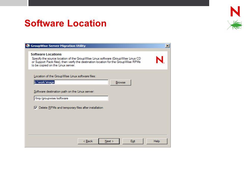Software Location