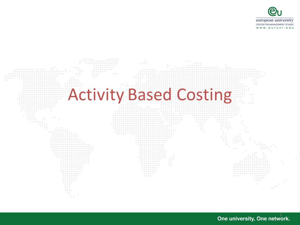 2 Activity Based Costing