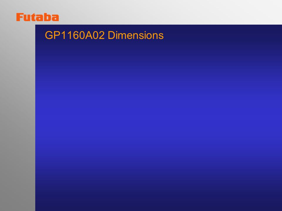 GP1160A02 Dimensions
