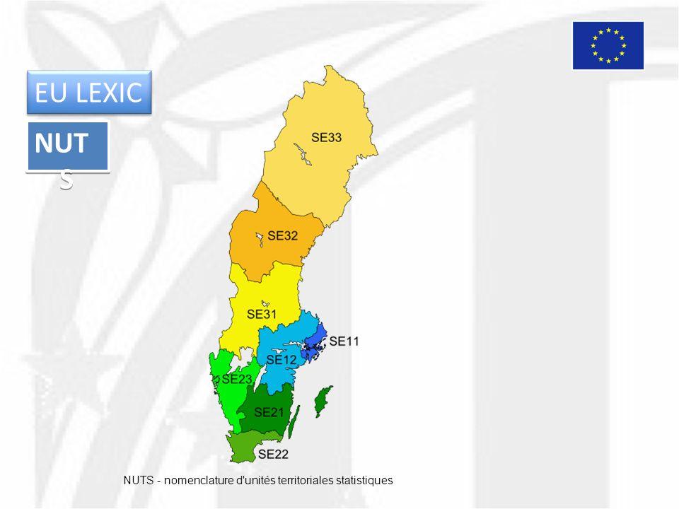NUT S NUTS - nomenclature d'unités territoriales statistiques EU LEXIC